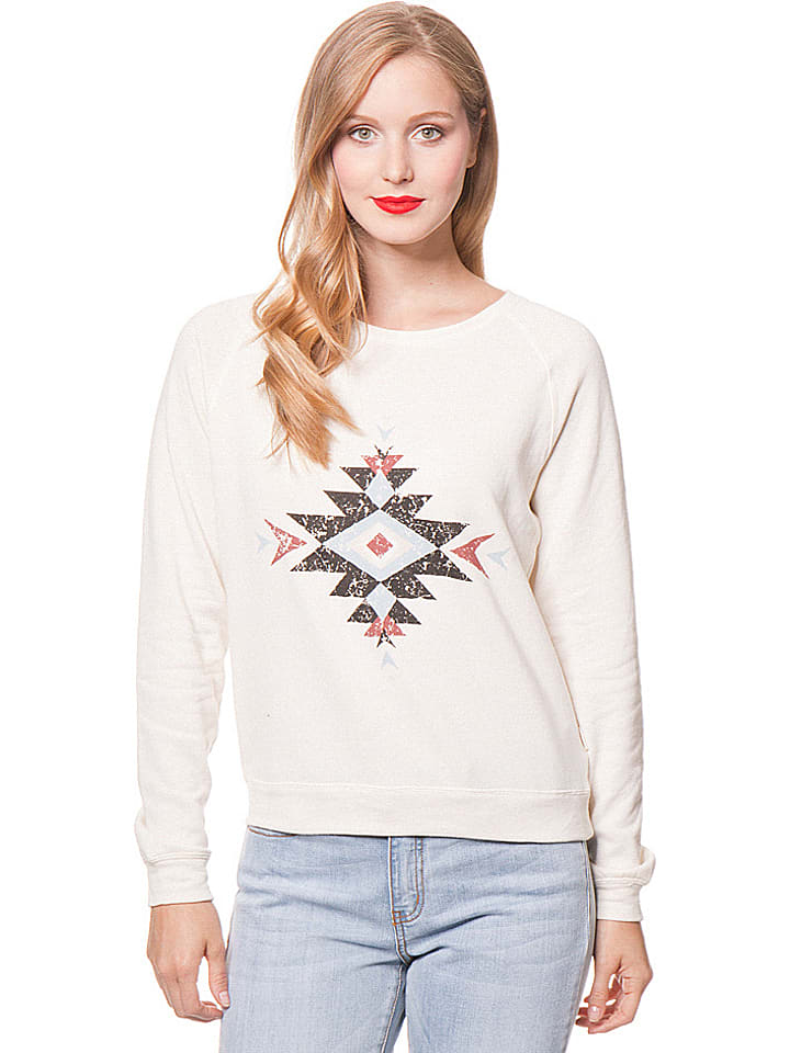 "Billabong Sweatshirt ""Sunset Love"" in Creme"