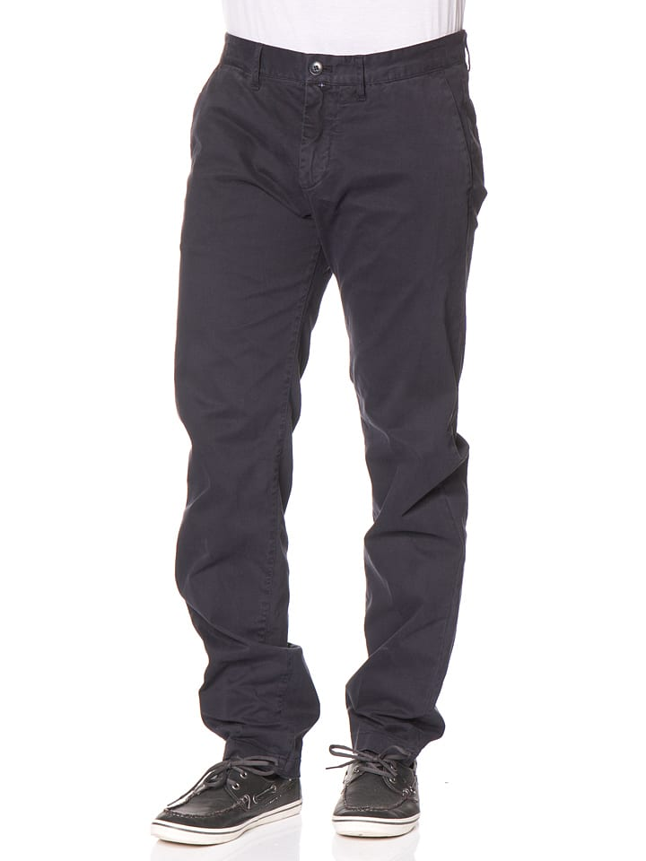Marc O'Polo Chinohose - Regular fit - in Dunkelblau