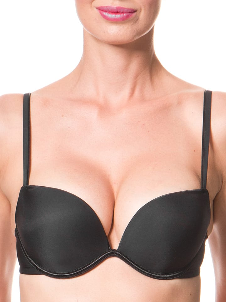 Wonderbra Push-up-BH in Schwarz