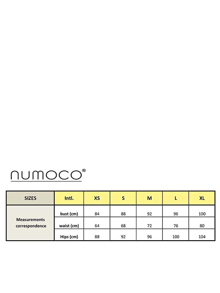 Numoco Kleid in Dunkelblau/ Weiß