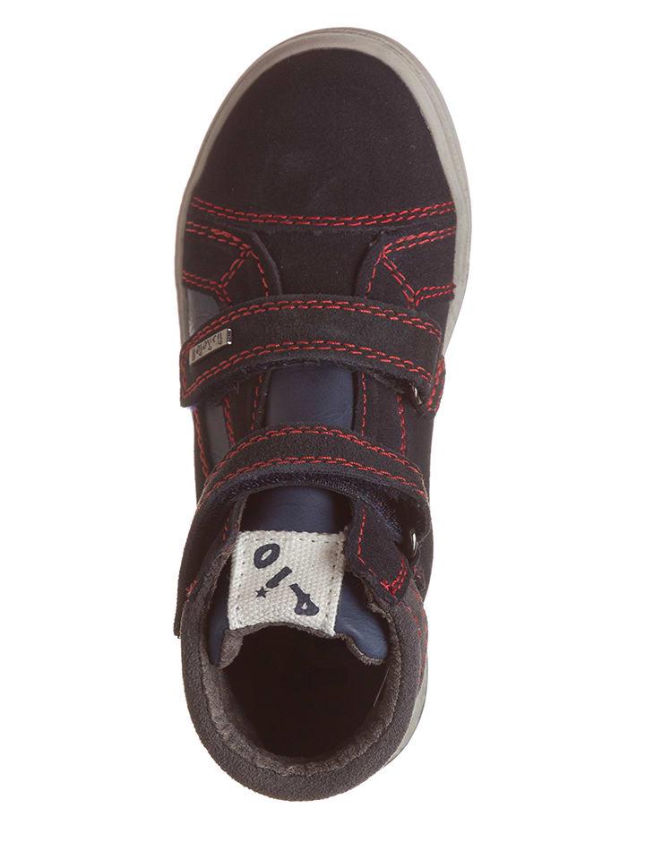 Pio Leder-Sneakers in Dunkelblau