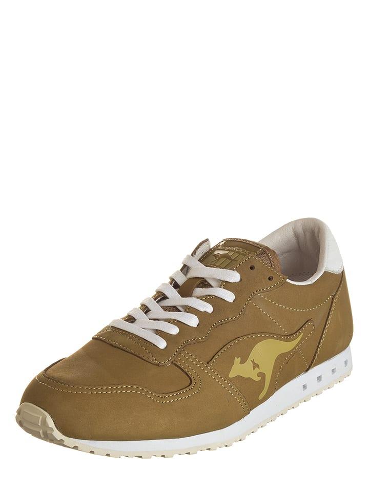 """Kangaroos Leren sneakers """"Blaze"""" lichtbruin"""