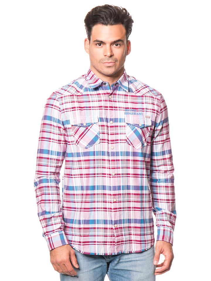 Tom Tailor Hemd in Blau/ Rot