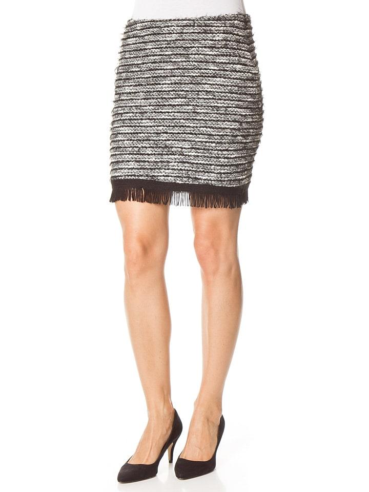 Tom Tailor Spódnica w kolorze czarno-biało-szarym