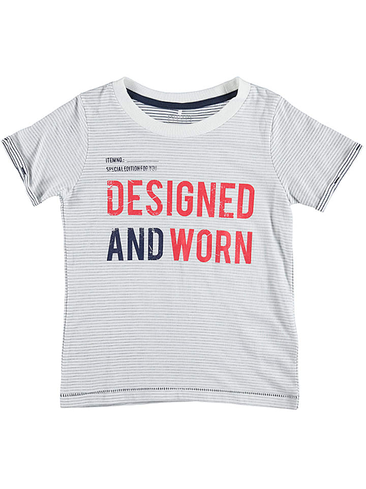 Name it Shirt Gaspard in Weiß/ Grau/ Rot