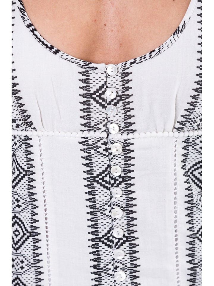 Mahal Mahal Casual Kleider  in schwarz_weiß_weiß