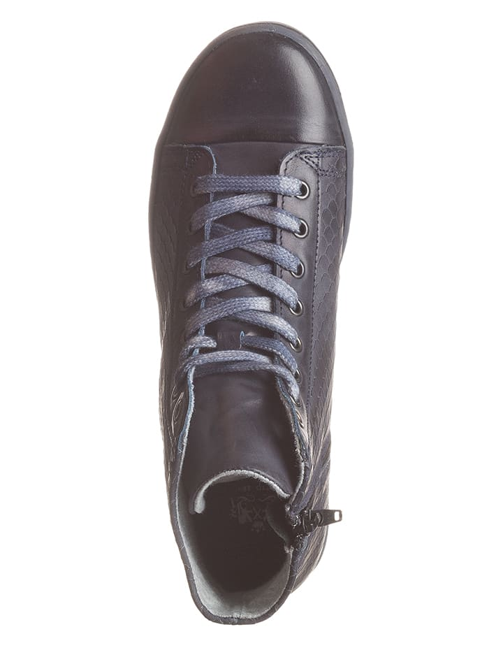 Otto Kern Leder-Sneakers in Dunkelblau