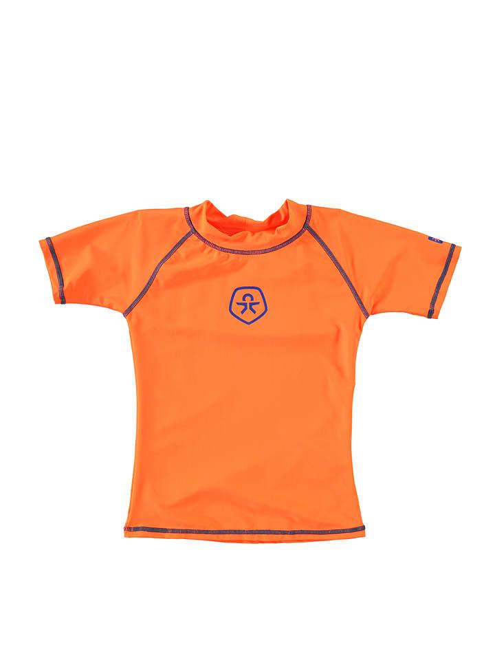"""Color Kids Koszulka kąpielowa """"Vitel"""" w kolorze jaskrawopomarańczowym"""