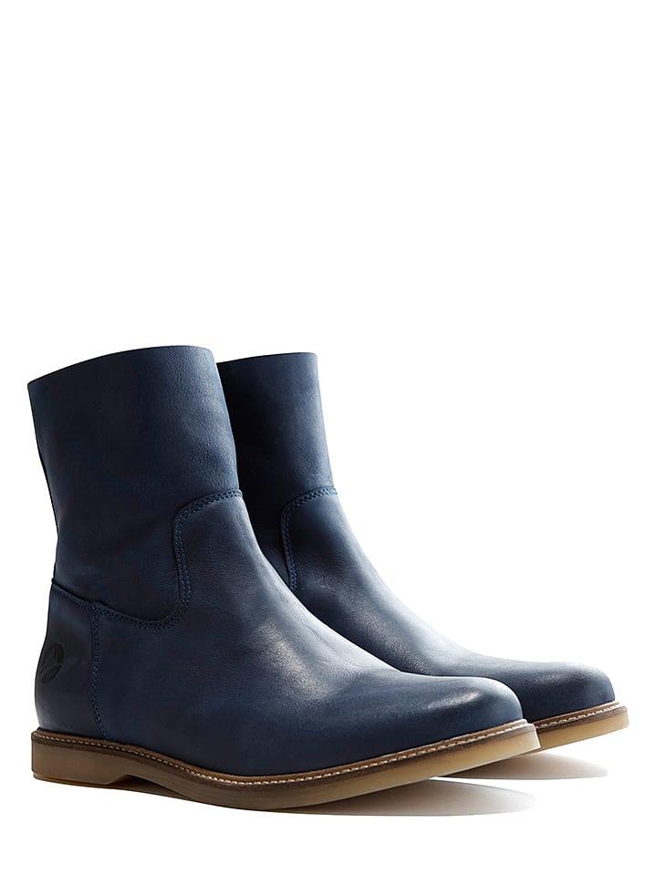 "TRAVELIN' Leder-Boots ""Marseille"" in Dunkelblau"