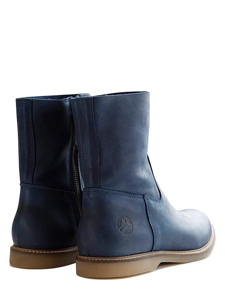 TRAVELIN' Leder-Boots Marseille in Dunkelblau - 57% XROT9X