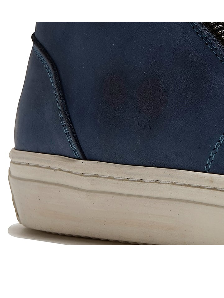 """TRAVELIN' Leder-Sneakers """"Orléans"""" in Dunkelblau"""
