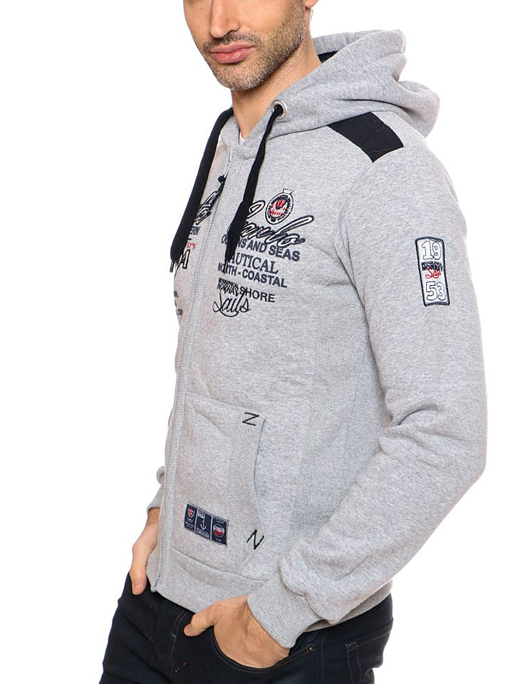 "Geographical Norway Sweatjacke ""Goda"" in Grau"