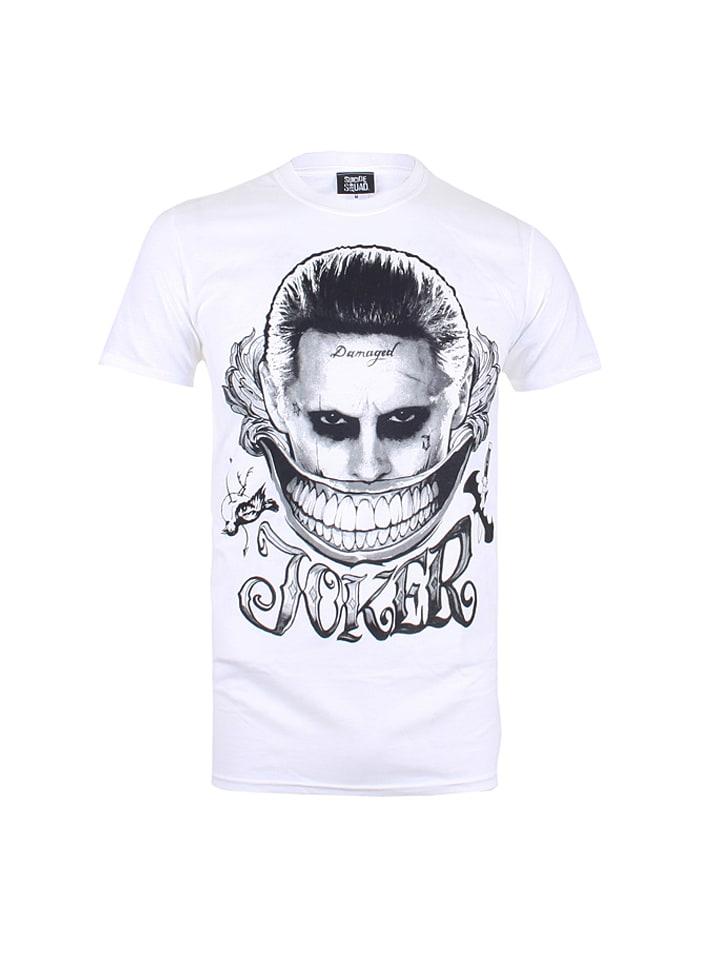 "DC Comics Shirt ""Joker Smile"" in Weiß/ Schwarz"