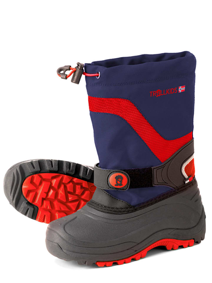 """Trollkids Boots """"Narvik Winter"""" rood/donkerblauw"""