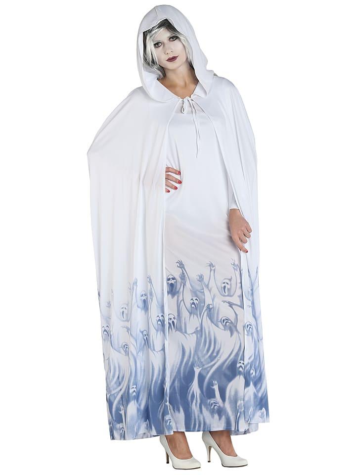 """MOTTOLAND 2tlg. Kostüm """"Seelensammlerin"""" in Weiß/ Blau"""