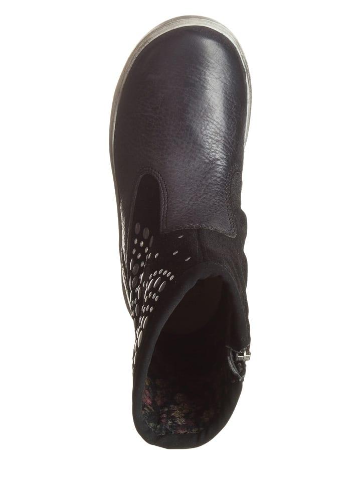 Primigi Leder-Boots in Schwarz