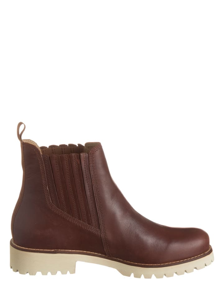 Geox Leder-Chelsea-Boots in Braun
