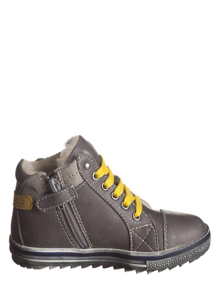 Lea Lelo Leder-Sneakers in Grau/Gelb - 62% rX8NfonC8m