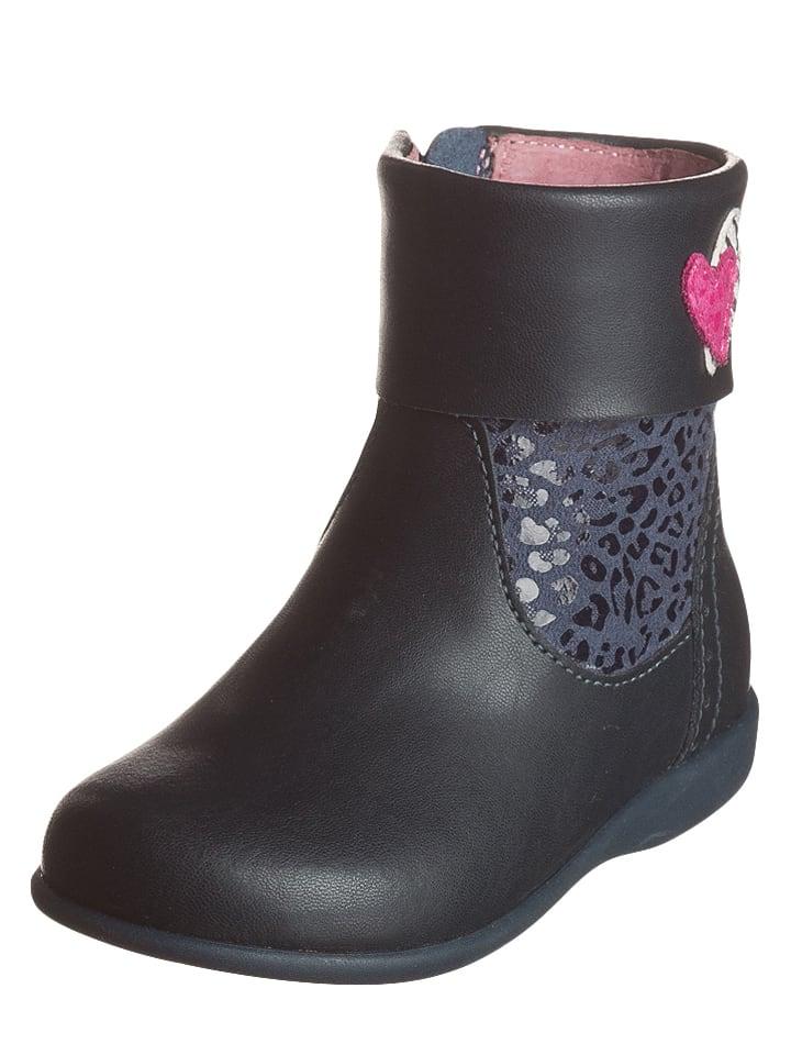 Lea Lelo Leder-Boots in Dunkelblau