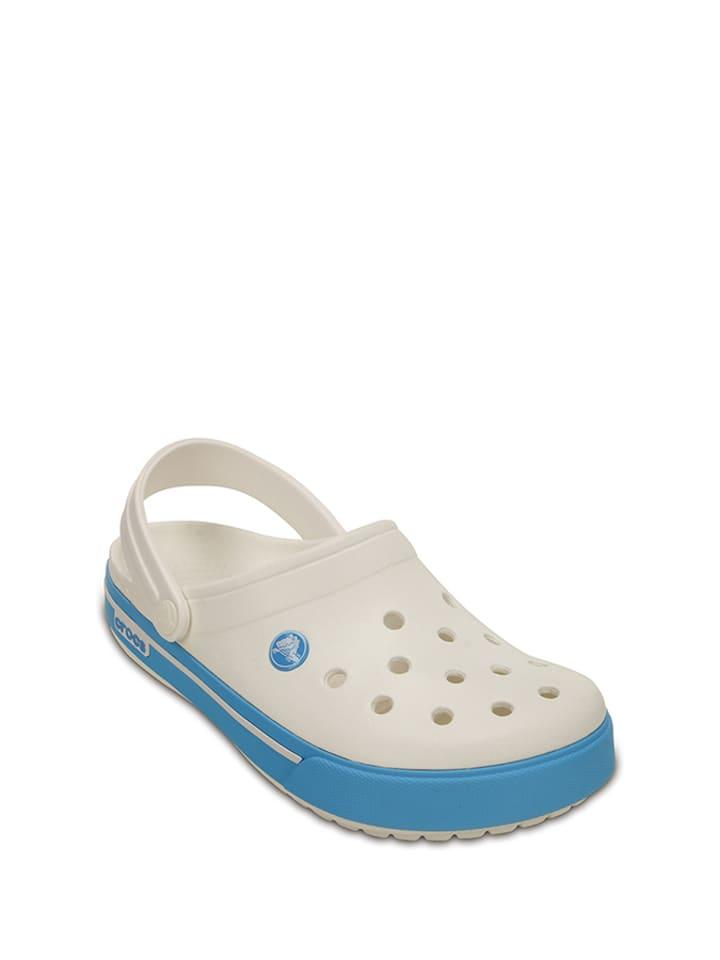 "Crocs Clogs ""Crocband II.5"" in Weiß/ Blau"