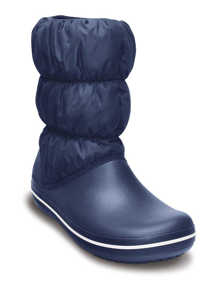 """Crocs Winterlaarzen """"Puff Boot"""" donkerblauw"""