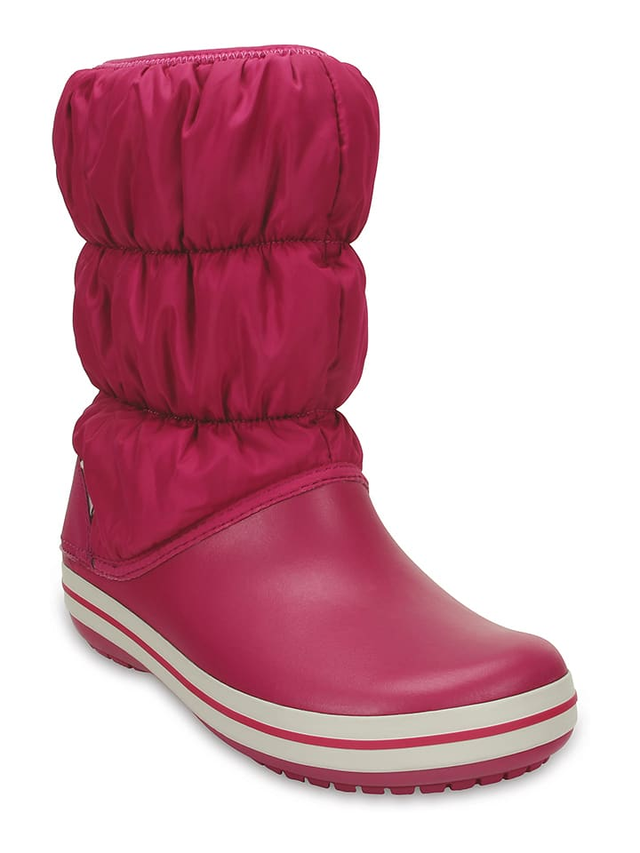 "Crocs Winterstiefel ""Puff Boot"" in Fuchsia"