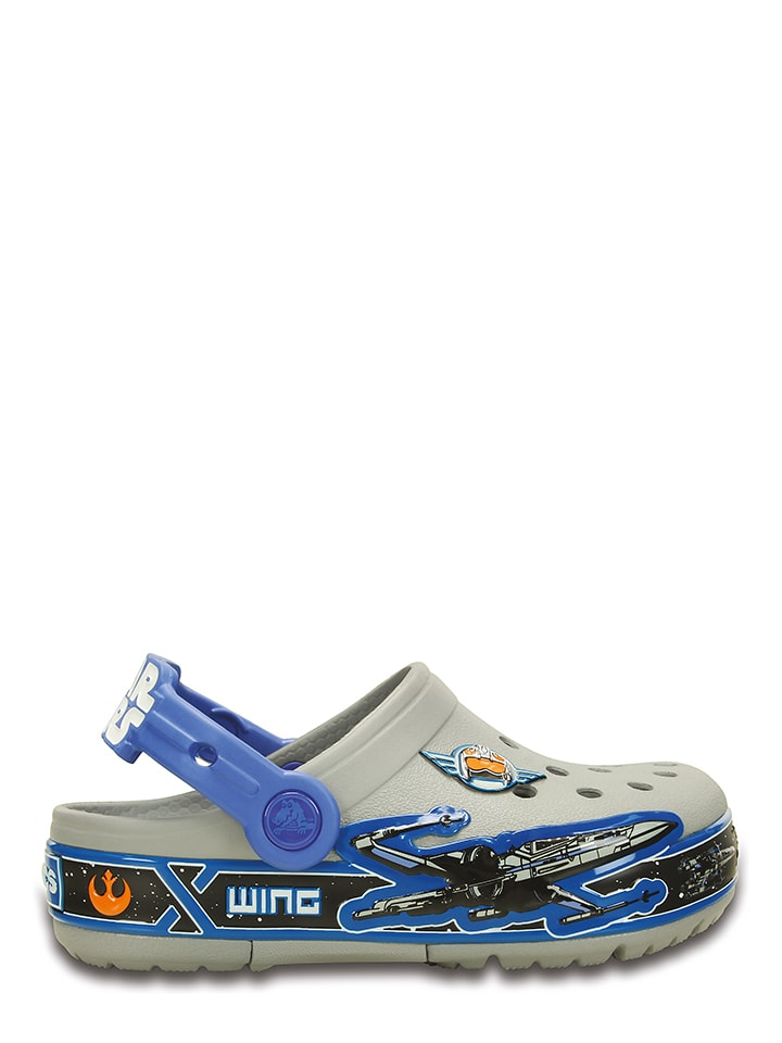 "Crocs Clogs ""Star Wars Xwing"" in Grau/ Blau"