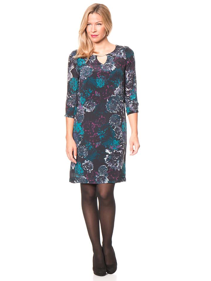 More & More Kleid in Schwarz/ Bunt