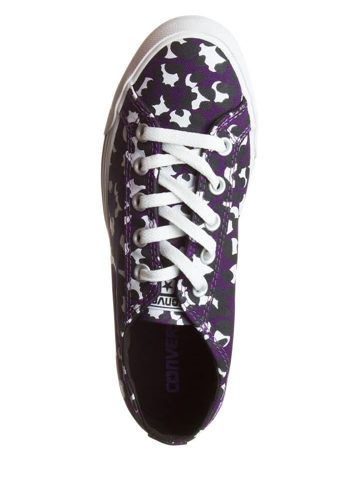 Converse Sneakers in Lila/ Schwarz/ Weiß
