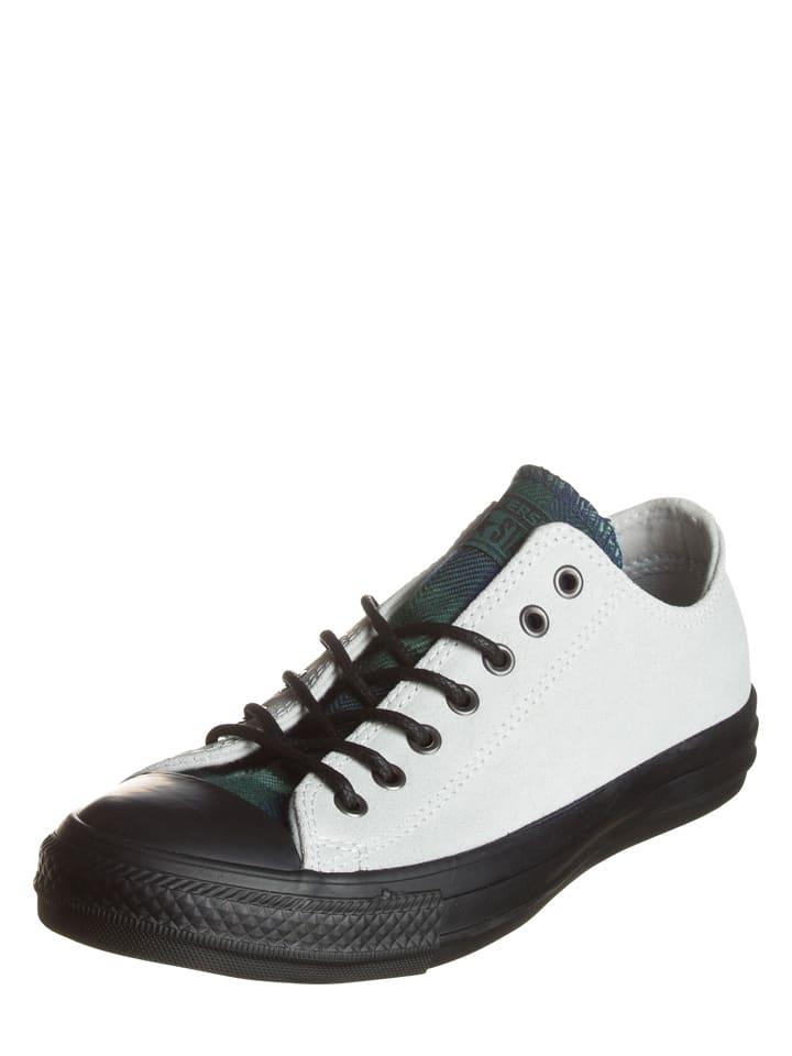 Converse Leder-Sneakers in Hellgrau/ Grün/ Schwarz