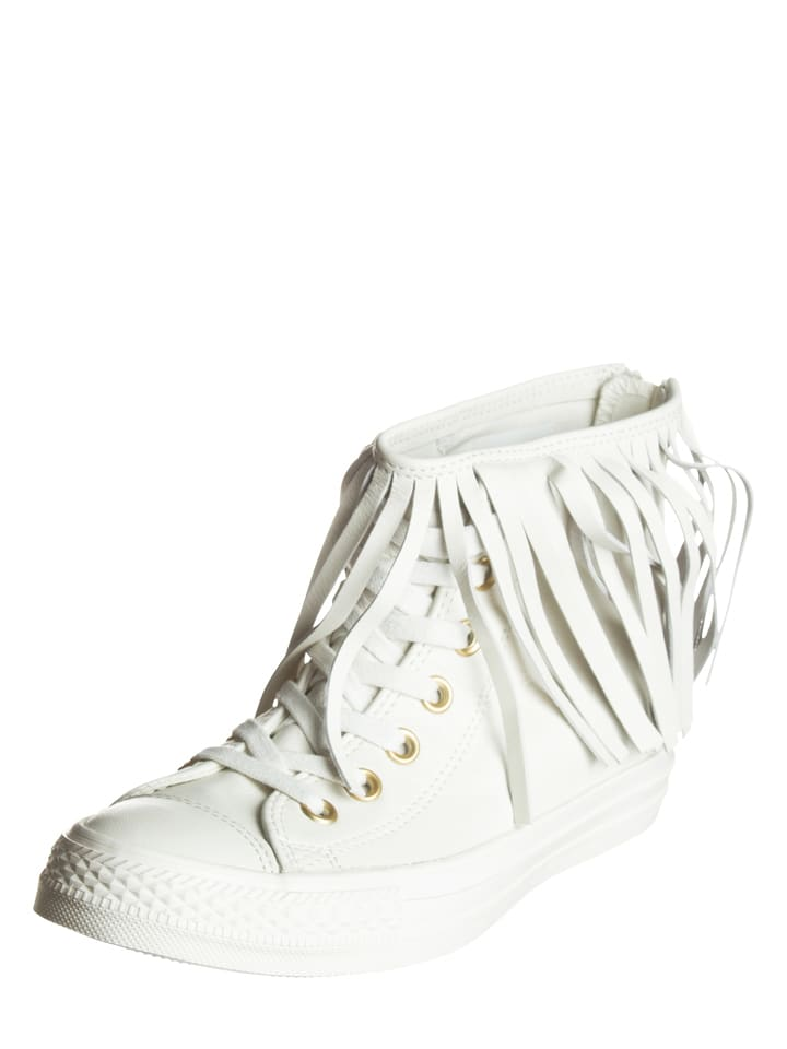 Converse Leder-Sneakers in Creme