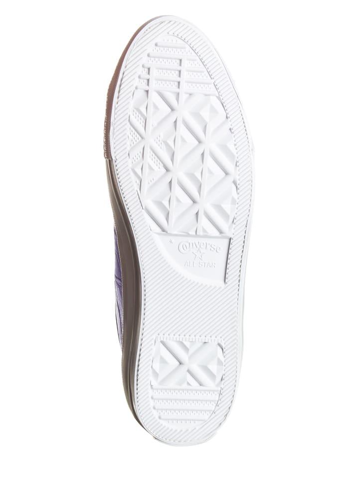 Converse Leder-Sneakers in Lila