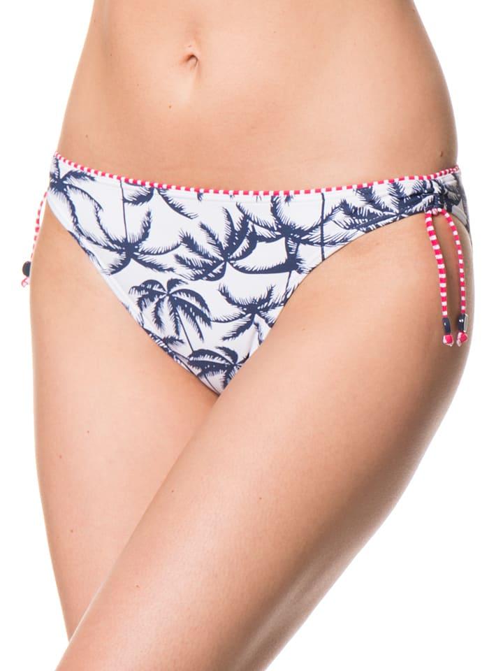 "ESPRIT Bikini-Slip ""Sunset Beach"" in Dunkelblau/ Weiß"