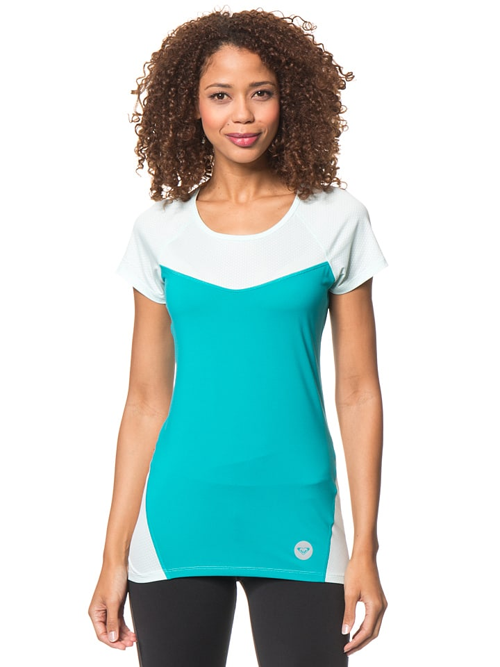 "Roxy Funktionsshirt ""Tier"" in Türkis/ Mint"