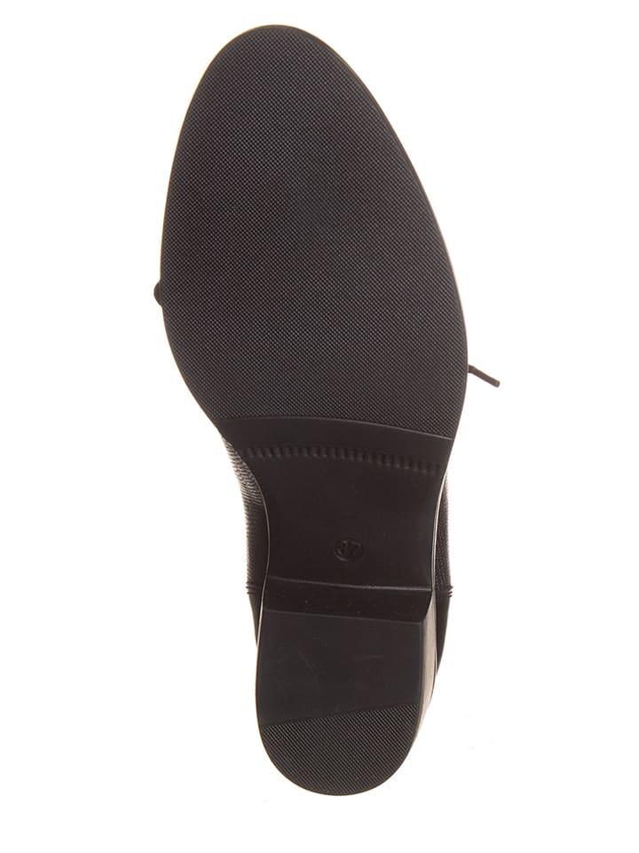 MONTENERO Leder-Schnürschuhe in Schwarz