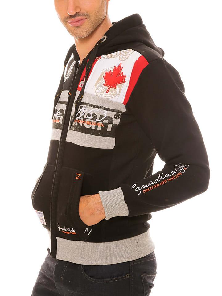"""Canadian Peak Sweatjacke """"Face"""" in Schwarz"""