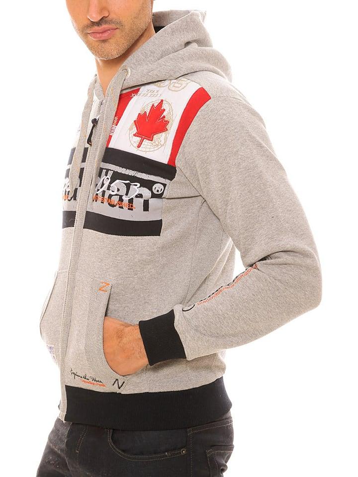 "Canadian Peak Sweatjacke ""Face"" in Grau"