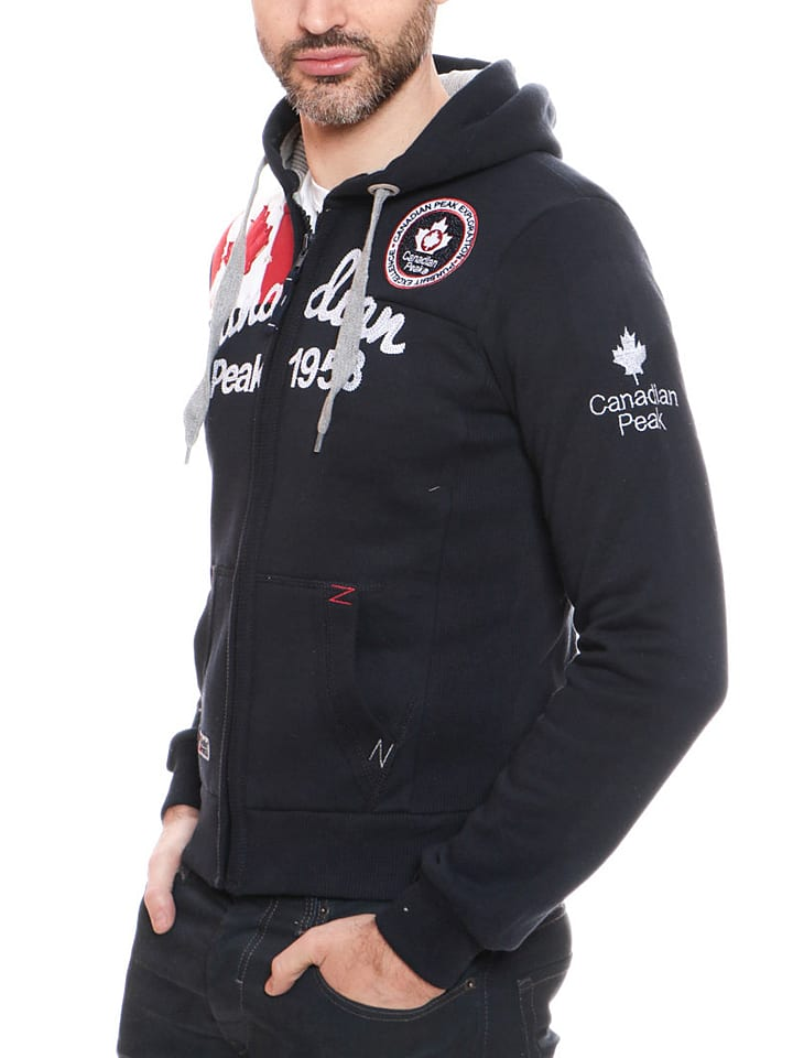 "Canadian Peak Sweatjacke ""Gailor"" in Dunkelblau"