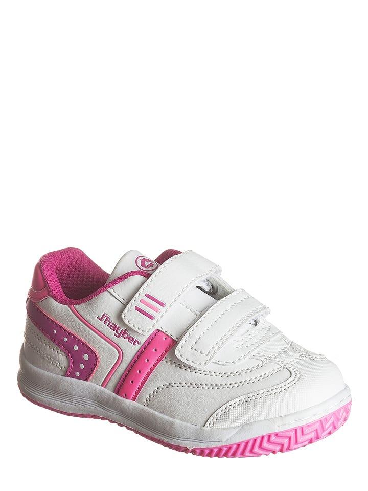 """Jhayber Sneakersy """"Wolito"""" w kolorze biało-różowym"""