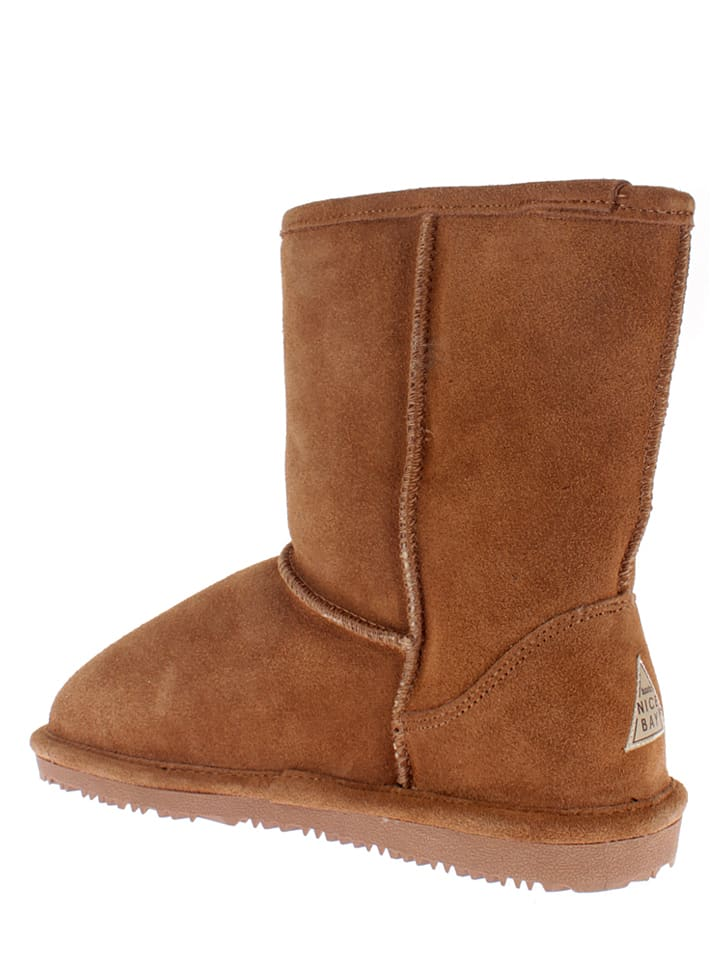 "NICEBAY Leder-Boots ""Luna Short"" in Hellbraun"
