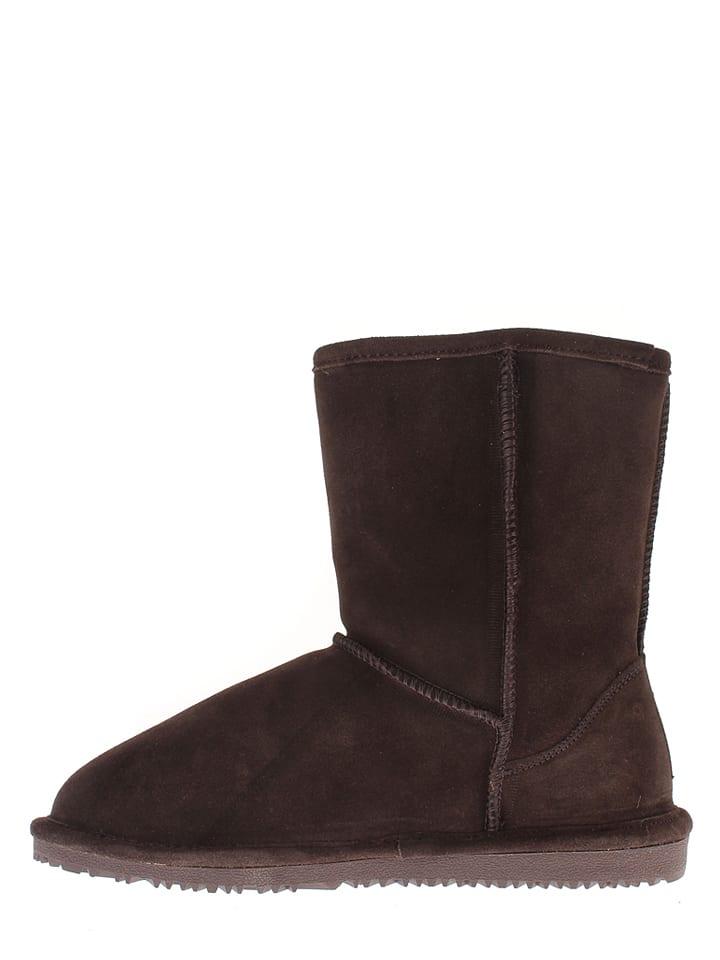 "NICEBAY Leder-Boots ""Luna Short"" in Braun"