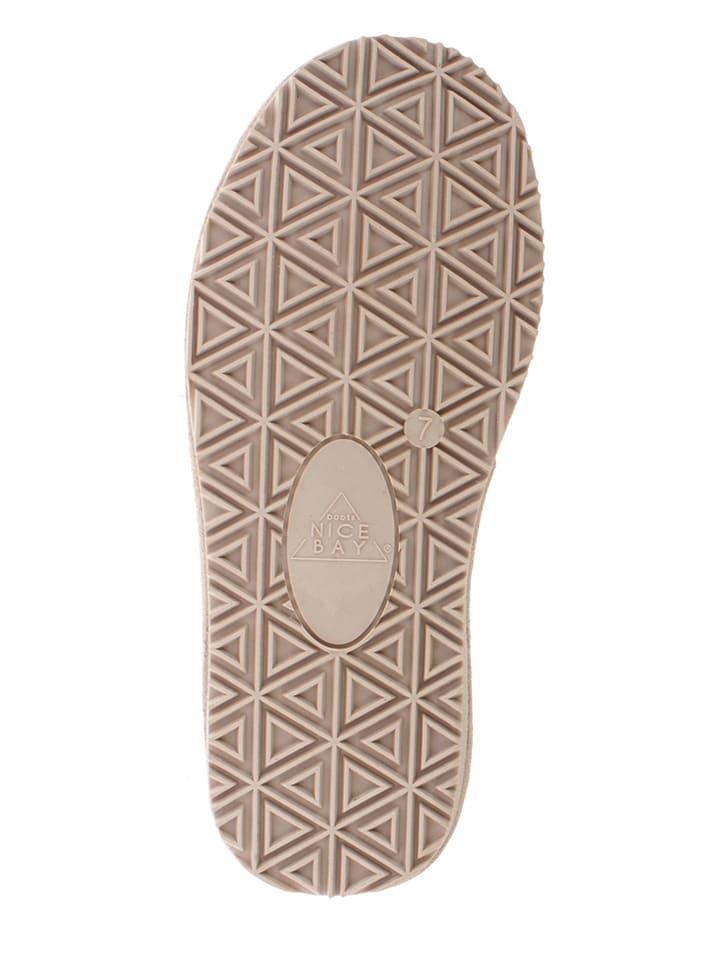 """NICEBAY Leder-Boots """"Luna Short"""" in Beige"""