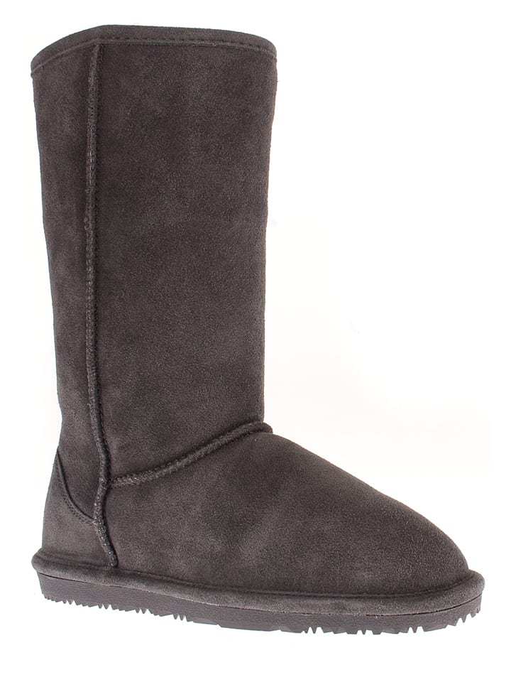 "NICEBAY Leder-Stiefel ""Luna Tall"" in Anthrazit"