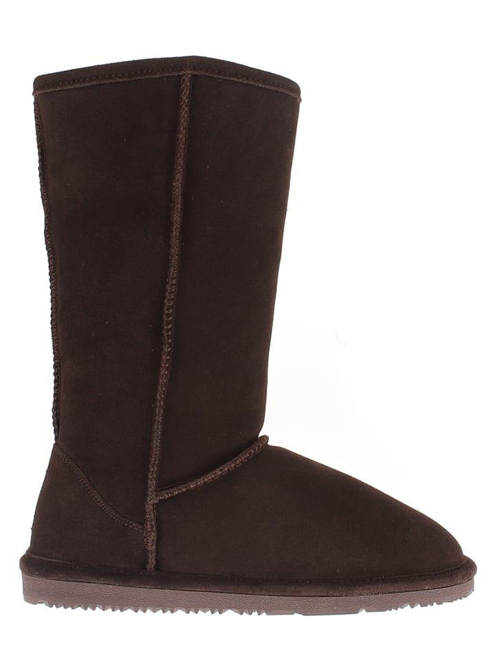 """NICEBAY Leder-Stiefel """"Luna Tall"""" in Braun"""
