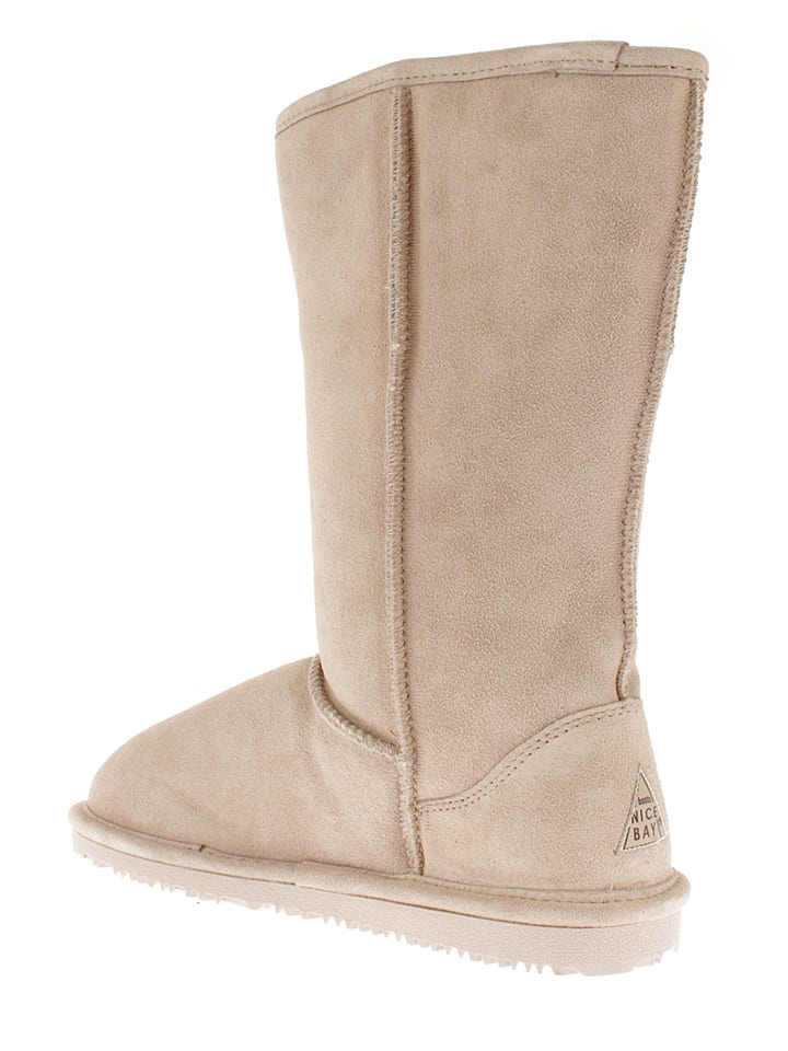 "NICEBAY Leder-Stiefel ""Luna Tall"" in Beige"