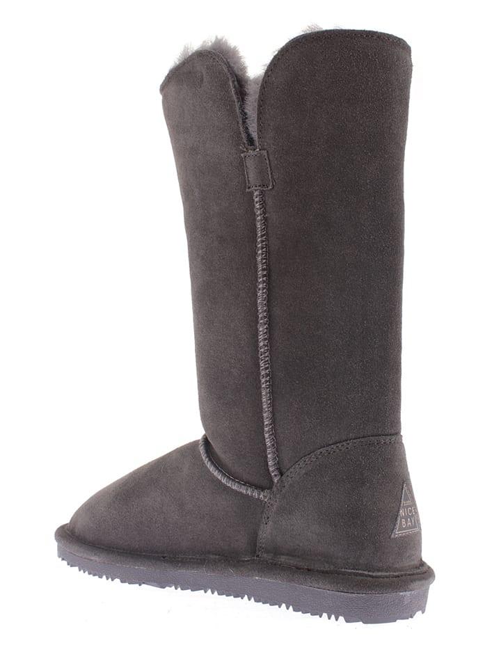 """NICEBAY Leder-Stiefel """"Dana"""" in Anthrazit"""