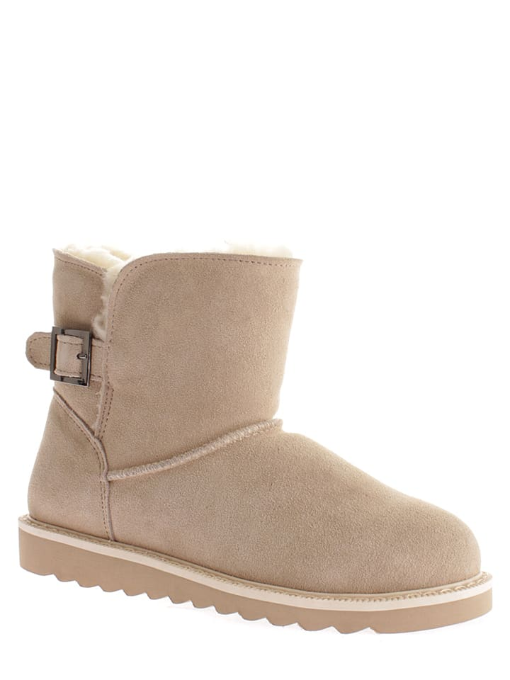 "NICEBAY Leder-Boots ""Backbone"" in Beige"