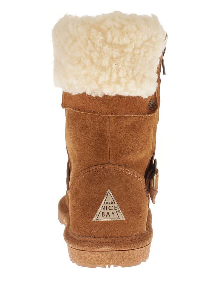 "NICEBAY Leder-Boots ""Johanna"" in Hellbraun"