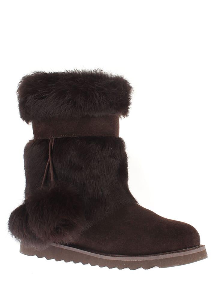"NICEBAY Leder-Boots ""Whitney"" in Braun"