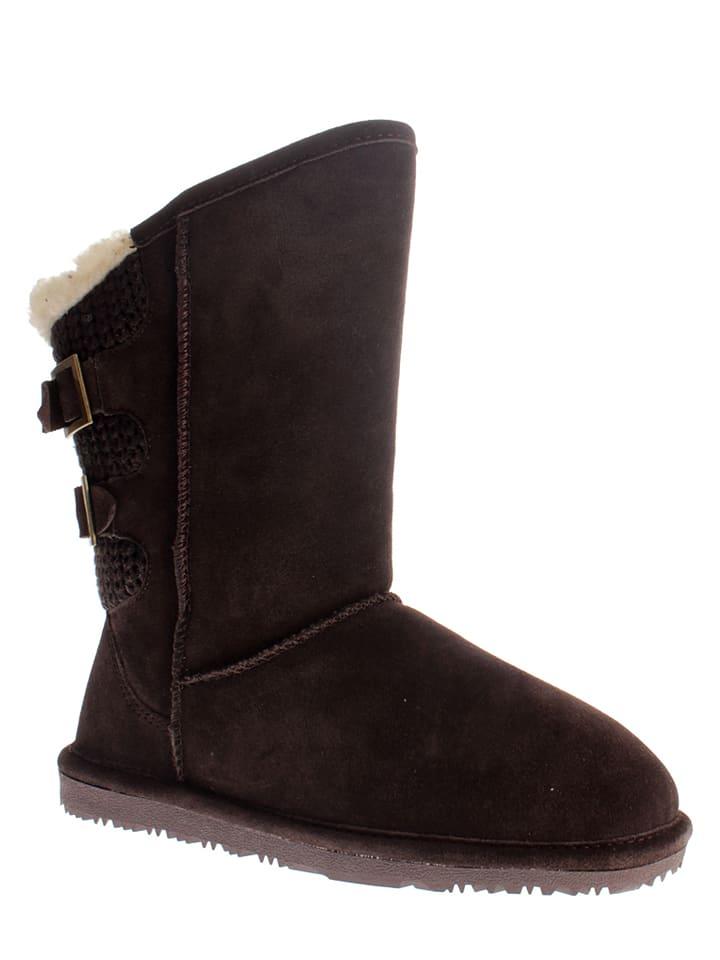 "NICEBAY Leder-Stiefel ""Baker"" in Braun"
